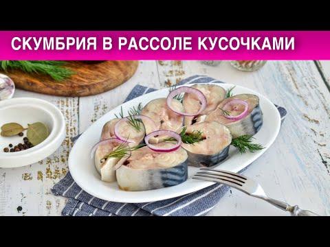 Рецепт соления скумбрии в домашних условиях в рассоле кусочками