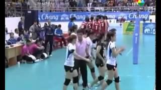 วอลเลย์บอล AVC 2013 ไทย-จีน semi final 1