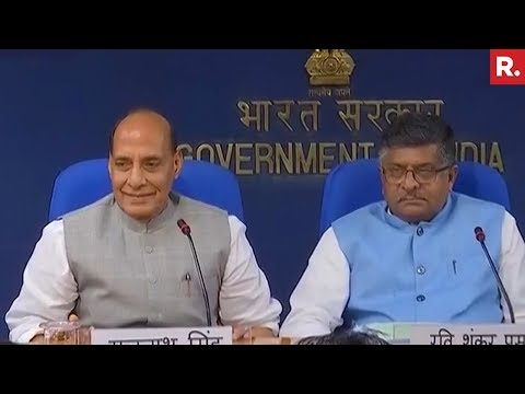 Cabinet Briefing By Rajnath Singh & Ravi Shankar Prasad In Delhi