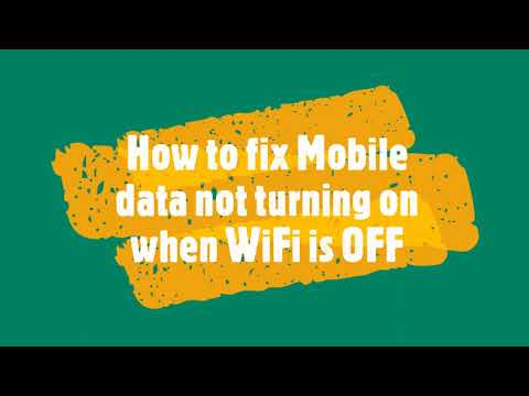 Android Device Mobile data is not switched on when WiFi is off