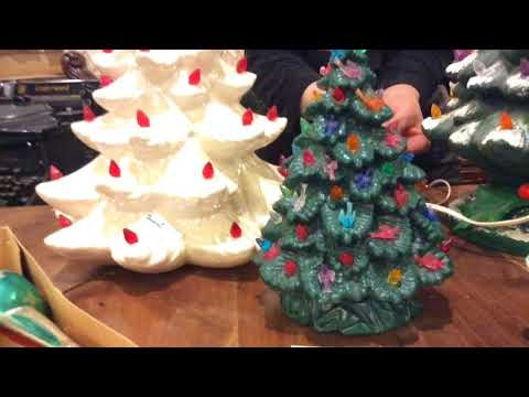 Craig Stevens - Some ceramic Christmas trees selling for a lot of green