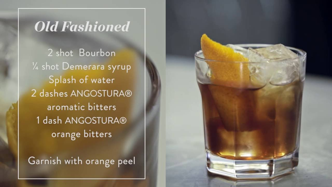 How To Make An Old Fashioned Tail Recipe Presented By The House Of Angostura You