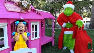 Diana and Grinch who stole all the New Year's presents