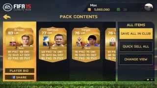 FIFA 15 Ultimate Team Android 1 Million Coins Pack Opening (2015)