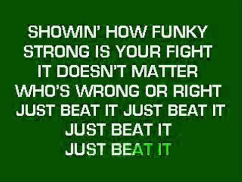 Beat it Karaoke Instrumentalwmv