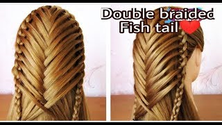 Double Braided Fish Tail Hairstyle | Pretty Hairstyles