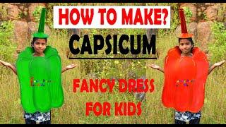 Capsicum fancy dress costume /How to make/SHIMLA MIRCHI/healthy green vegetable/pepper/handmade/DIY
