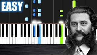 Strauss - The Beautiful Blue Danube - EASY Piano Tutorial by PlutaX - Synthesia