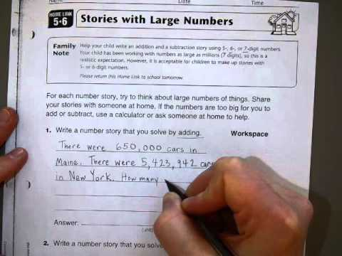 Everyday Math Home Link 5.6 - YouTube