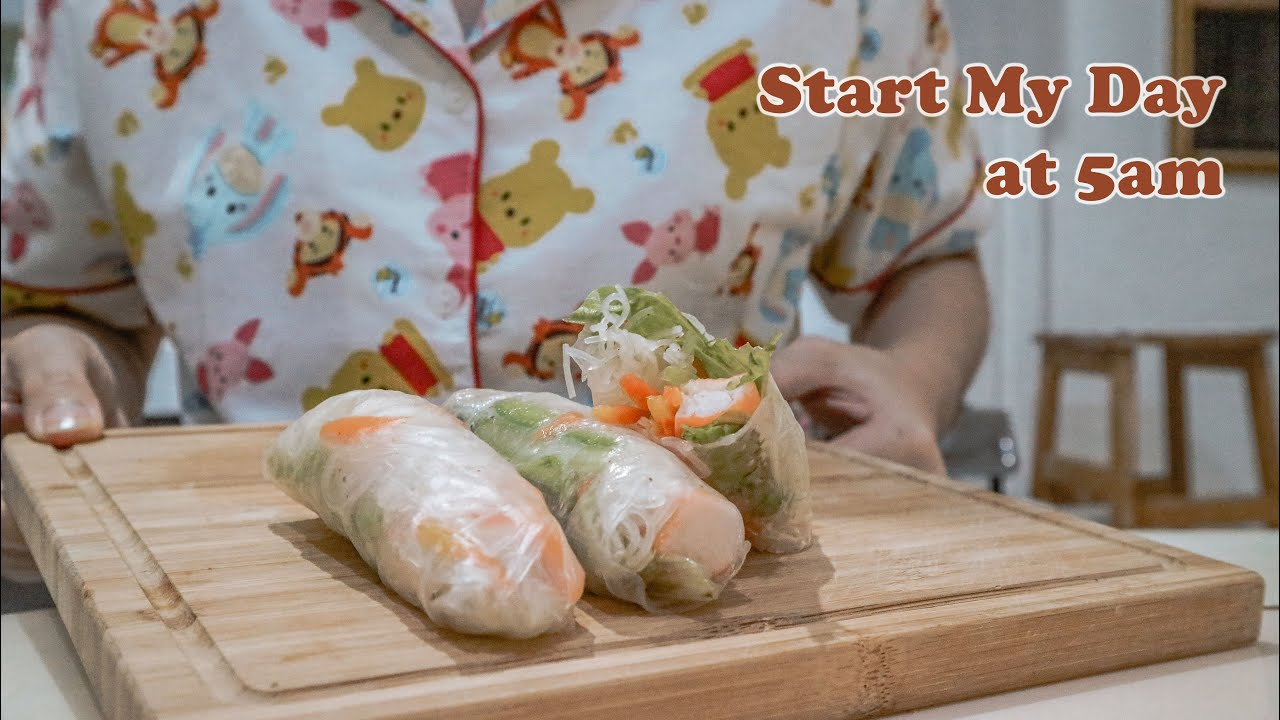 Wakeup at 5am, starting my own business @byshin____, Cook spring roll | Life as a Homebody