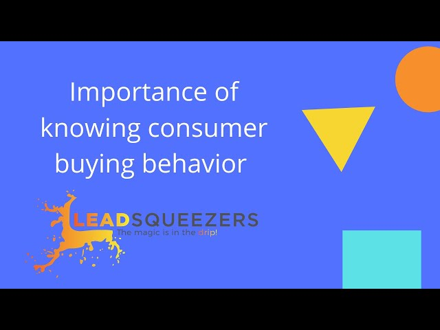 Lead Squeezers - Importance of knowing consumer buying behavior to get more business.