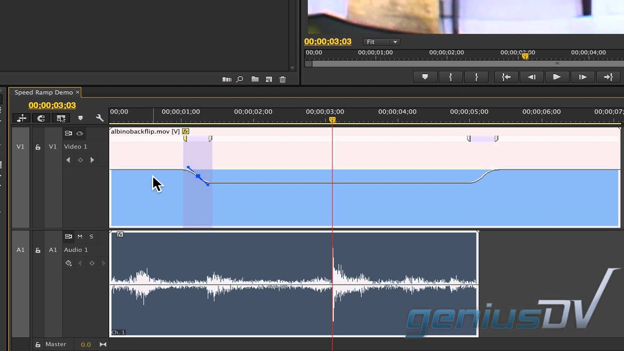 Adobe Premiere Speed Ramp and Time Stretch