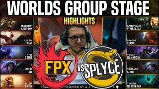FPX vs SPY Highlights Worlds 2019 Group Stage Day 3 - FUNPLUS vs SPLYCE Highlights Worlds 2019