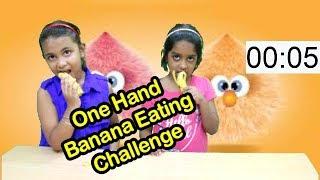 Indoor Game One Hand  Banana Eating Challenge/indoor party games for kids,#kids#fun#indoorgame#masti