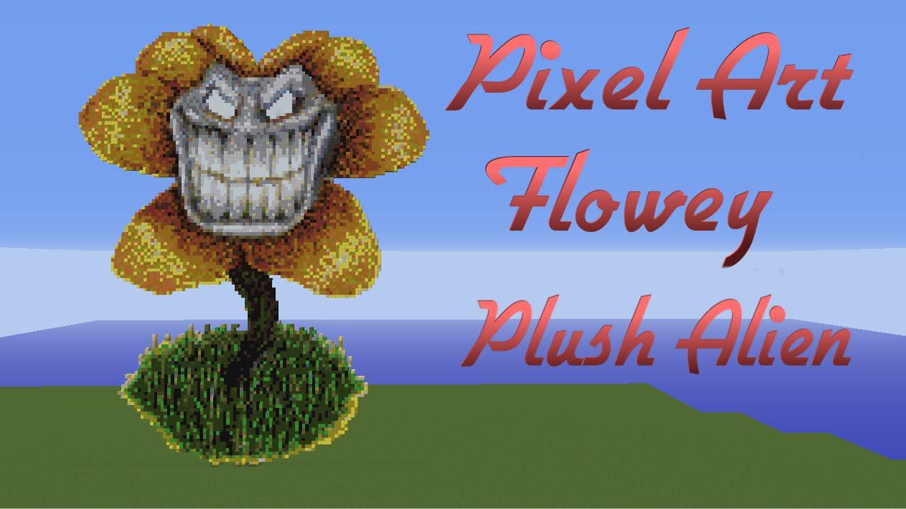 Minecraft Pixel Art Speedbuild Flowey Undertale