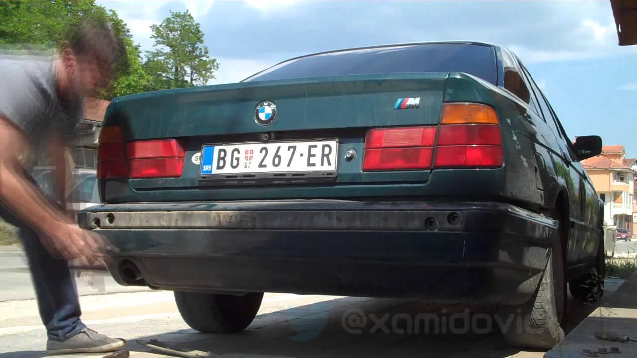 rear bumper fix bmw e34 [ 1280 x 720 Pixel ]