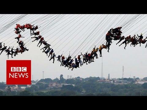 245 People Jump Off A Bridge Together - BBC News