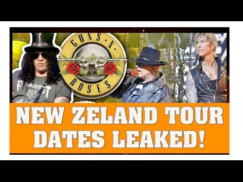 Guns N' Roses News: New Zealand 2017 Tour Dates Leaked (Not In This Lifetime)
