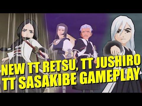 Bleach Brave Souls NEW TAG TEAMS RETSU, JUSHIRO and SASAKIBE GAMEPLAY