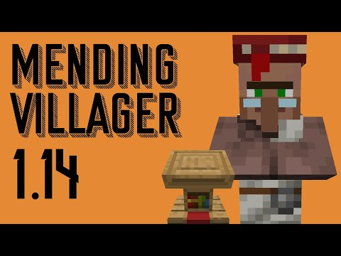 Minecraft 1 14 Mending Villager - 20 Second Tutorial - YouTube
