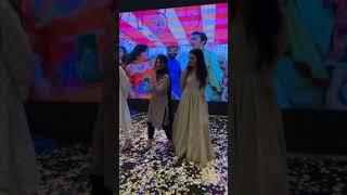 Mehwish Hayat and Zara Noor Abbass dancing with a fan
