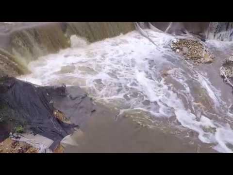 Éboulement du canal de briare a Montcresson En Drone