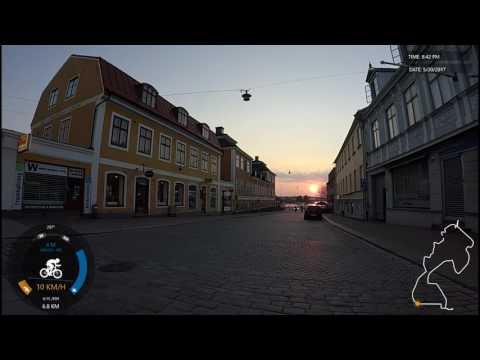 Sunset ride in Karlskrona, Sweden