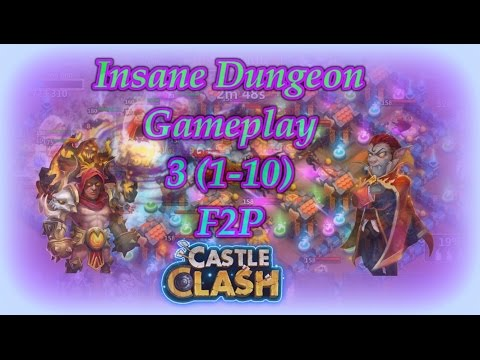 Castle Clash Insane Dungeon 3( 1-10 ) F2P Account
