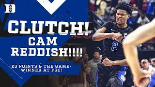 Cam Reddish is CLUTCH at FSU (1/12/19)