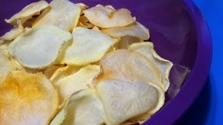How To Make Oven Baked Potato Chips - Salt N Vinegar