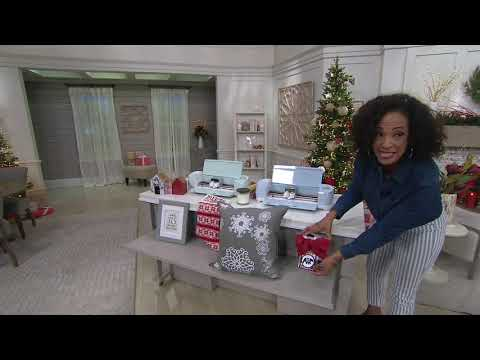 Cricut Explore Air 2 with Holiday Paper & Glitter Vinyl on QVC