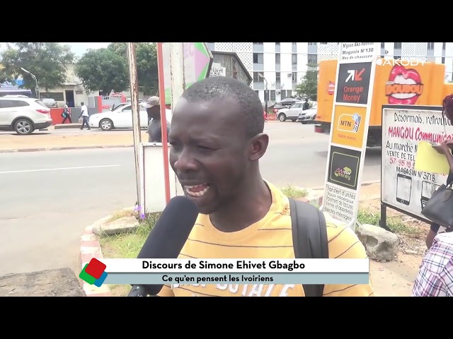 Des Ivoiriens se prononcent suite au 1er Discours de Simone Gbagbo