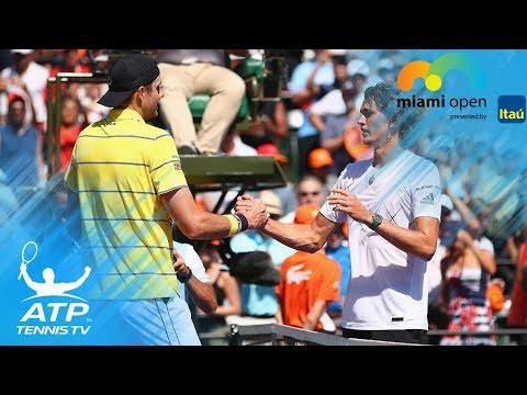 Two Breathtaking Isner Vs Zverev Rallies! Miami Open 2018 Final