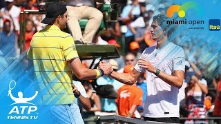 Two Breathtaking Isner Vs Zverev Rallies! Miami Open 2018 Final
