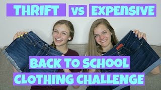 Thrift vs Expensive Back to School Clothing Challenge ~ Jacy and Kacy