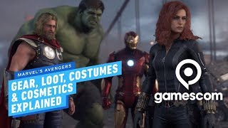 Marvel's Avengers Gear, Loot, Costumes & Cosmetics Explained - Gamescom 2019