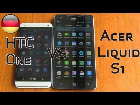 Acer Liquid S1 vergleich mit HTC One - Computex 2013