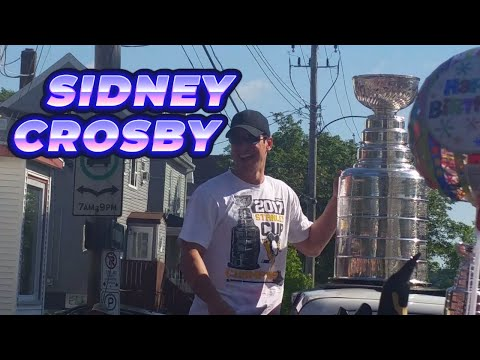 Sidney Crosby and the Stanley Cup in Halifax