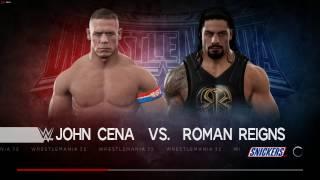 WWE 2K17 Gameplay on PC- John Cena Vs Roman Reigns
