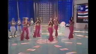 Banana Split cantando Vem Comigo no Boa Noite Brasil (2004)