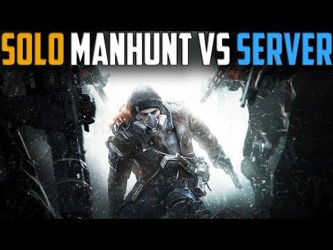 The Division | Solo DZ Manhunt vs The Server | Stream Highlights #1