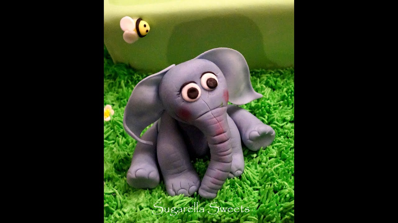 Cake Decorating   How To Make An Elephant Cake Topper