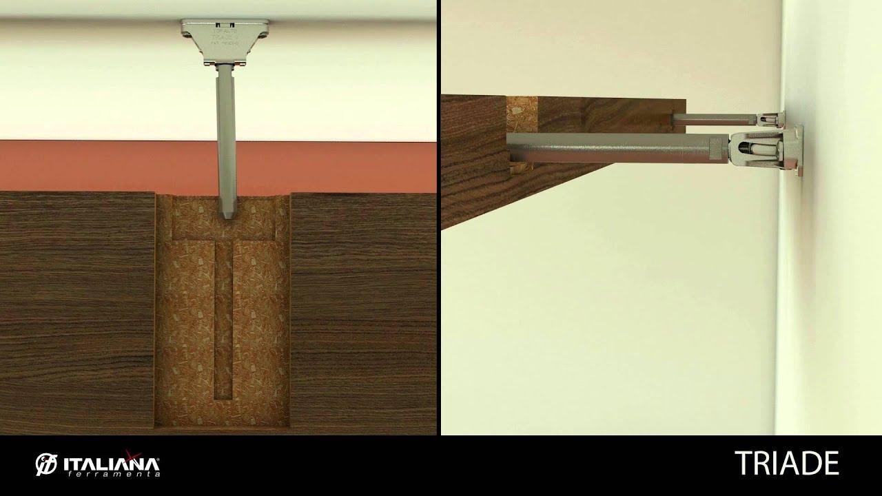 Triade Concealed Shelf Support Shelving System Italiana Ferramenta Youtube
