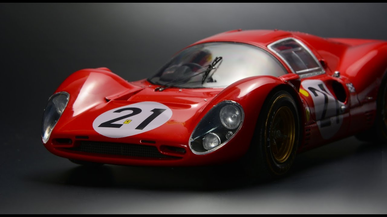 Ferrari 330 P4 24h Lemans 1 24 Fujimi Car Model Youtube