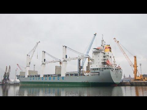 Heavy Lift 700 Tons Chipolbrok Pacific Ship Crane MacGregor Port Szczecin