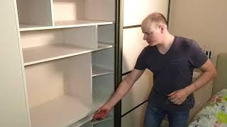 Обзор шкафа-купе в спальню с компьютером внутри