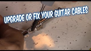 How to solder and fix guitar bass microphone instrument cables with 1/4 inch connectors