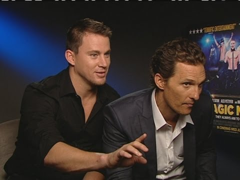 Channing Tatum rates Matthew McConaughey's stripping: Magic Mike interview