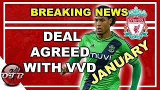 VIRGIL VAN DIJK AGREES TO JOIN LIVERPOOL FC IN JANUARY?? BREAKING NEWS #LFC #VVD
