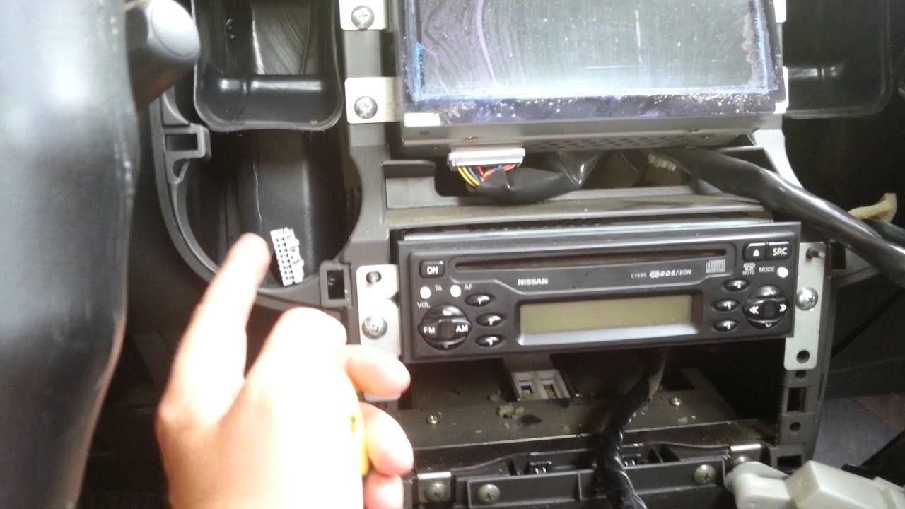 Nissan X-trail 2003-2007 - Как поменять штатную автомагнитолу (How to install audio)